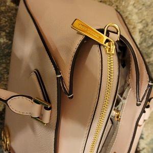 Michael Kors leather light pink satchel